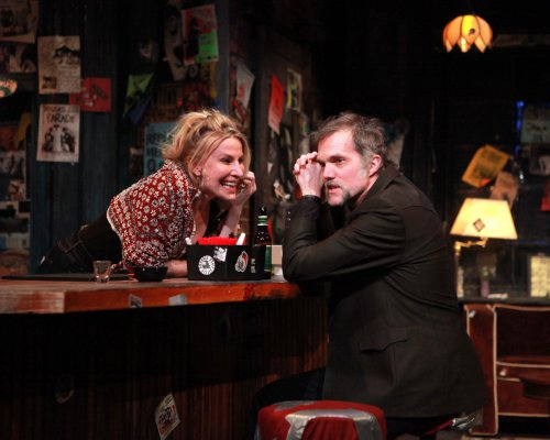 """Lusia Strus and Jeb Brown in a scene from Laura Eason's """"The Undeniable Sound of Right Now""""(Photo credit: Sandra Coudert)"""