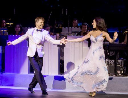 Derek Hough and Laura Benanti in a scene from the New York Spring Spectacular at Radio City Music Hall (Photo courtesy of MSG Entertainment)
