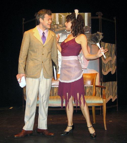 """Blake Joseph and Stacey Harris in a scene from The Gershwins' """"Pardon My English"""" (Photo credit: Michael Portantiere)"""