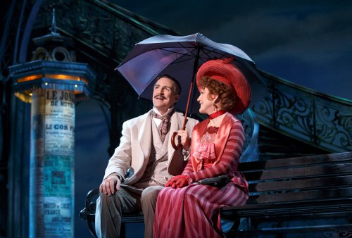 "Howard McGillen and Victoria Clark as they ""Remember It Well"" in the new Broadway musical ""Gigi"" (Photo credit: Joan Marcus)"