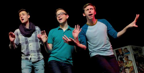 """Luka Fric, Al Roths and John Brady in a scene from """"Mad About the Boy"""" (Photo credit: Jonathan M. Smith)"""