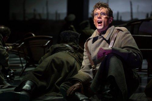 "Paul Alexander Nolan as Pasha Antipov/Strelnikov in a scene from the Broadway musical ""Doctor Zhivago"" (Photo credit: Matthew Murphy)"