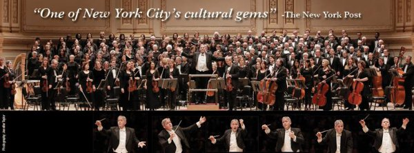 New York Choral Society and Music Director David Hayes (Photo courtesy of New York Choral Society)