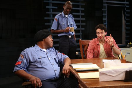 "Ray Anthony Thomas, Brian D. Coates and Gianmarco Soresi in a scene from Will Snider's ""The Big Man"" (Photo credit: Gerry Goodstein)"