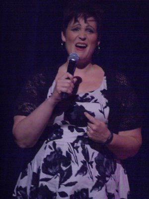 "Lisa Howard as she sang ""Jenny's Blues"" from the current ""It Shoulda Been You"" (Photo credit: Maryann Lopinto)"