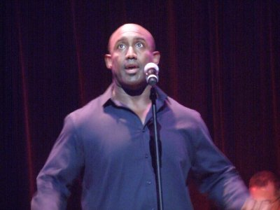 """Quentin Earl Darrington performing """"Make Them Hear You"""" which he sang in the 1998 revival of """"Ragtime"""" (Photo credit: Maryann Lopinto)"""