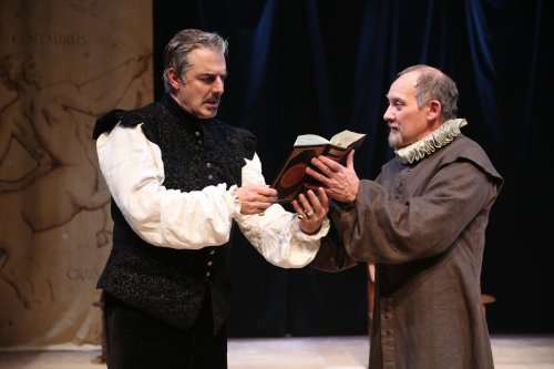 "Chris Noth and Zach Grenier in a scene from Classic Stage Company's ""Doctor Faustus"" (Photo credit: Joan Marcus)"