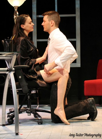 "Sarah Swift and Brandon Alan Smith in a scene from ""Devoted Dreams"" (Photo credit: Amy Foster Photography)"