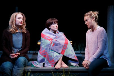 "Jennifer Mudge, Heather Lind and Alicia Silverstone in a scene from ""Of Good Stock"" (Photo credit: Joan Marcus)"