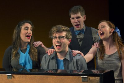 "Nicole Dalto, Ethan Andersen, Matthew Summers and Katie Emerson in a scene from ""HeadVoice"" (Photo credit: Morgan Mayer)"