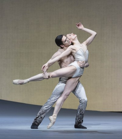 "A scene from The Royal Ballet's production of the Pas de Deux from Christopher Wheeldon's ""Aeternum"" (Photo credit: Johan Persson)"