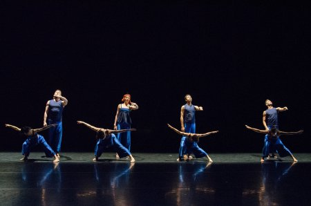 "Full Company of ZviDance as they appeared in a scene from ""Escher/Bacon/Rothko"" (Photo credit: Nina Wurzel)"