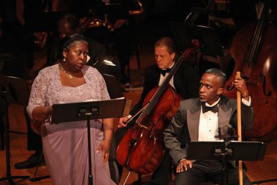 "Crystal Charles and Darian Worrell in a scene from ""Voodoo, a Harlem Renaissance Opera"" (Photo credit: Regina Fleming)"