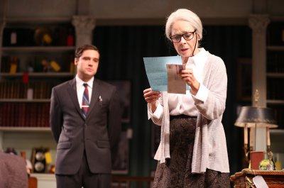 "Joe Paulik and Maureen Anderman in a scene from A.R Gurney's ""Love & Money"" (Photo credit: Joan Marcus)"