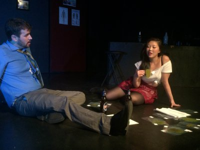 "Joshua Schwartz and Elisabeth Ng in a scene from Rebecca Gilman's ""Blue Surge"" (Miah Gonzales)"