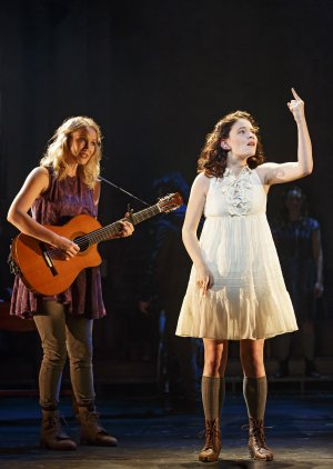 """Katie Boeck and Sandra Mae Frank in a scene from """"Spring Awakening""""(Photo credit: Joan Marcus)"""