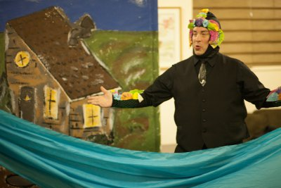"""Brian Goff in the title role of """"The Magic Fish"""" (photo credit: Sean Moonsammy)"""