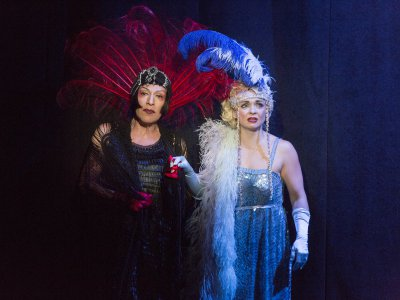 """Joey Arias in a scene from Basil Twist's """"Sisters' Follies: Between Two Worlds"""" (Photo credit: Richard Termine)"""