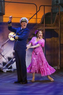 "John Bolton and Lesli Margherita in a scene from ""Dames at Sea"" (Photo credit: Jeremy Daniel)"
