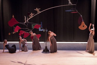 """General Mischief Dance Theater in a scene from """"Up and Away"""" (Photo credit: Joshua Green)"""
