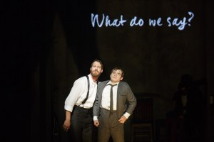 "Russell Harvard and Daniel N. Durant in a scene from ""Spring Awakening"" (Photo credit: Joan Marcus)"