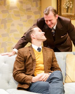 "Christopher J. Hanke and Robert Eli in a scene from ""Perfect Arrangement"" (Photo credit: James Leynse)"