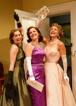 "Julia Coffey, Kelly McAndrew and Jennifer Van Dyck in a scene from ""Perfect Arrangement"" (Photo credit: James Leynse)"