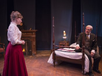 "Amanda Jones and John D. McNally in a scene from ""Alison's House"" (Photo credit: Alban Rombaux)"