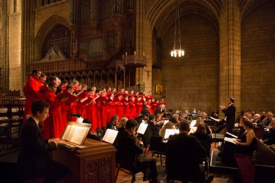 "Haydn's ""Missa in Angustiis"" (Nelson Mass) presented by The Saint Thomas Choir of Men and Boys with Orchestra of St. Luke's with Guest Conductor Andrew Nethsingha (Photo credit: Ira Lippke)"