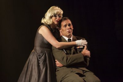 "Kate Oberjat and Peter Kendall Clark in a scene from ""Glory Denied"" (Photo credit: Robert J. Saperstein)"