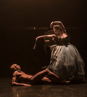 "Devon Rainey and Laura Careless in a scene from Company XIV's ""Nutcracker Rouge"" (Photo credit: Mark Selby Perry)"