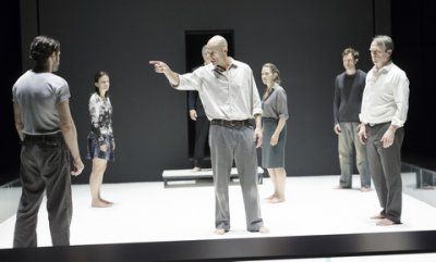"Mark Strong and the company of ""A View from the Bridge"" (Photo credit: Jan Versweyveld)"