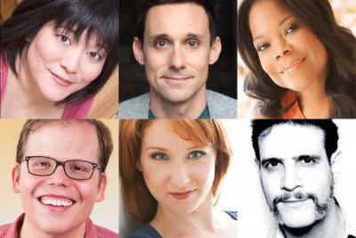 Villain: DeBlanks January 3 cast: (clockwise from left): Ann Harada, Nick Cearley, Angela Robinson, Adam Feldman, Molly Pope and Jeff Hiller