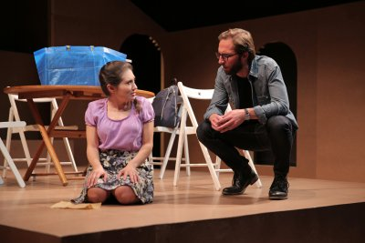 """Lucy DeVito and Blake DeLong in a scene from """"In Quietness"""" (Photo credit: Christopher Genovese)"""
