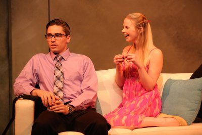 "Mark Ryan Anderson and Alicia Smith in a scene from Lexi Wolfe's ""Stand Up for Oneself"" (Photo credit: Carol Rosegg)"