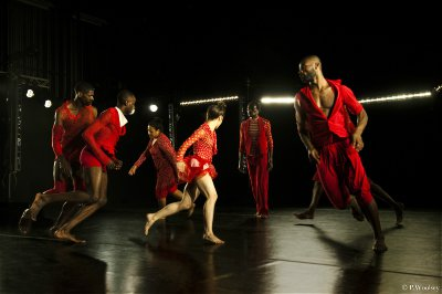 "Reggie Wilson/Fist and Heel Performance Group in a scene from ""Moses(es), Moses(es)"" (Photo credit: Peggy Woolsey)"