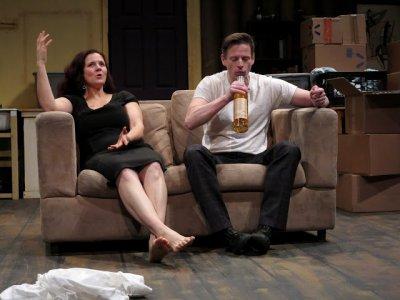 "Joe Casey and Steph Van Vlack in a scene from ""Allen Wilder 2.0"" (Photo credit: Jonathan Slaff)"