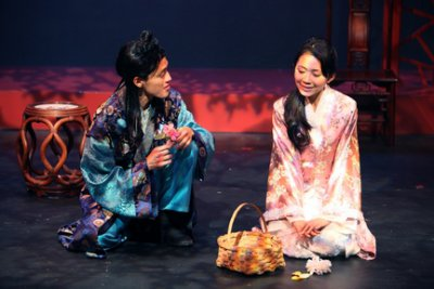 "Vichet Chum and Kelsey Wang in a scene from Pan Asian Repertory Theatre's production of ""A Dream of Red Pavilions"" (Photo credit: George Quincey Lee)"