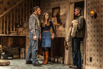 """Rich Sommer, Taissa Farmiga and Paul Sparks in a scene from Sam Shepard's """"Buried Child"""" (Photo credit: Monique Carboni)"""
