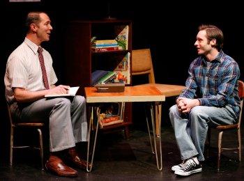 "Paul Niebanck and Bobby Steggert in a scene from ""Boy"" (Photo credit: Carol Rosegg)"