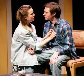 "Rebecca Rittenhouse and Bobby Steggert in a scene from ""Boy"" (Photo credit: Carol Rosegg)"