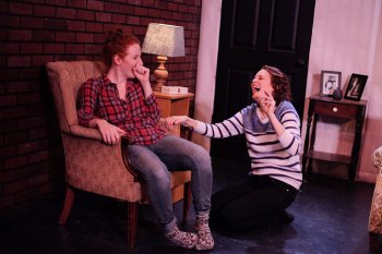 "Sarah Killough and Ellen Adair in a scene from ""The Goodbye Room"" (Photo credit: Colin Shepherd)"
