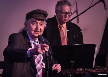 Fyvush Finkel on mike and Ian Finkel on xylophone (Photo credit: Lou Montesano)
