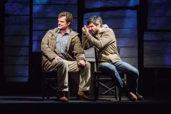 "Michael Cumpsty and Michael Crane in Dan O'Brien's ""The Body of an American"" (Photo credit: James Leynse)"