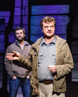 "Michael Crane and Michael Cumpsty in Dan O'Brien's ""The Body of an American"" (Photo credit: James Leynse)"