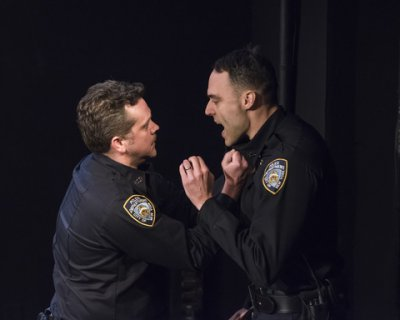 "Tom O'Keefe and Migs Govea in a scene from ""Dead Dog Park"" (Photo credit: Ashley Garrett)"