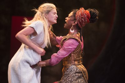 "Lilly Englert and Patrice Johnson Chevannes in a scene from Trevor Nunn's ""Pericles"" (Photo credit: Henry Grossman)"
