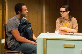 """Robby Clater and Midori Francis in a scene from """"Connected"""" (Photo credit: Hunter Canning)"""