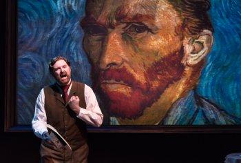 "James Briggs in a scene from Leonard Nimoy's ""Vincent"" (Photo credit: Russ Rowland)"