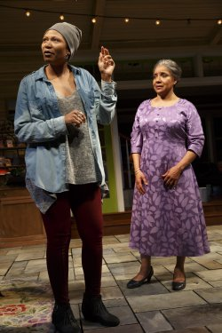 "Alana Arenas and Phylicia Rashad in a scene from ""Head of Passes"" (Photo credit: Joan Marcus)"